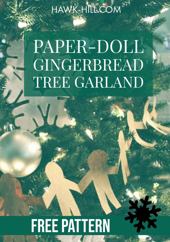 make a paper doll chain with this free pattern