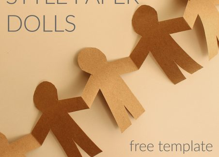 Simple Paper Doll Pattern and Instructions