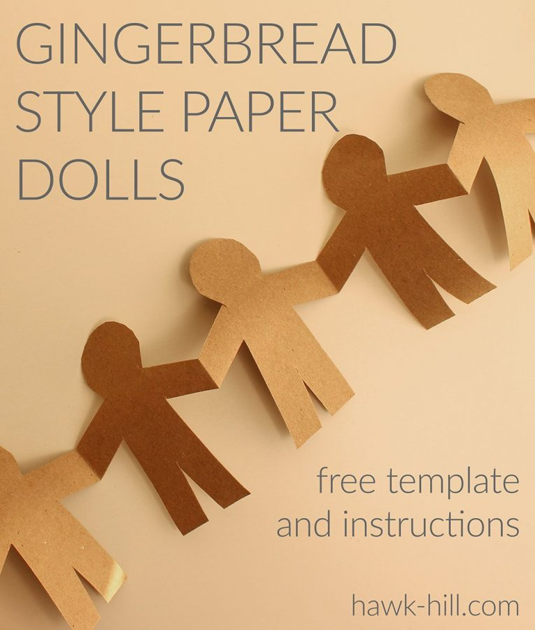stack paper and cut to make the paper dolls