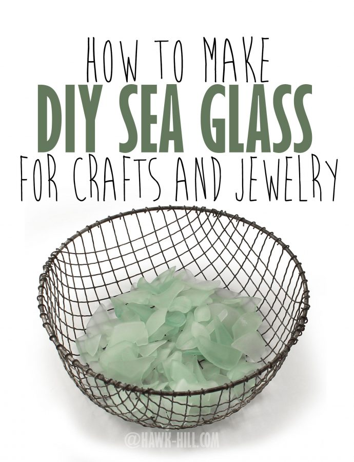 step by step instructions for making your own sea glass from recycled glass - How To Make Sea Glass