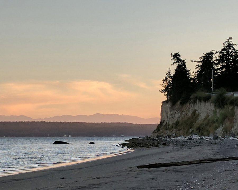 Sea cliff at Penn Cove