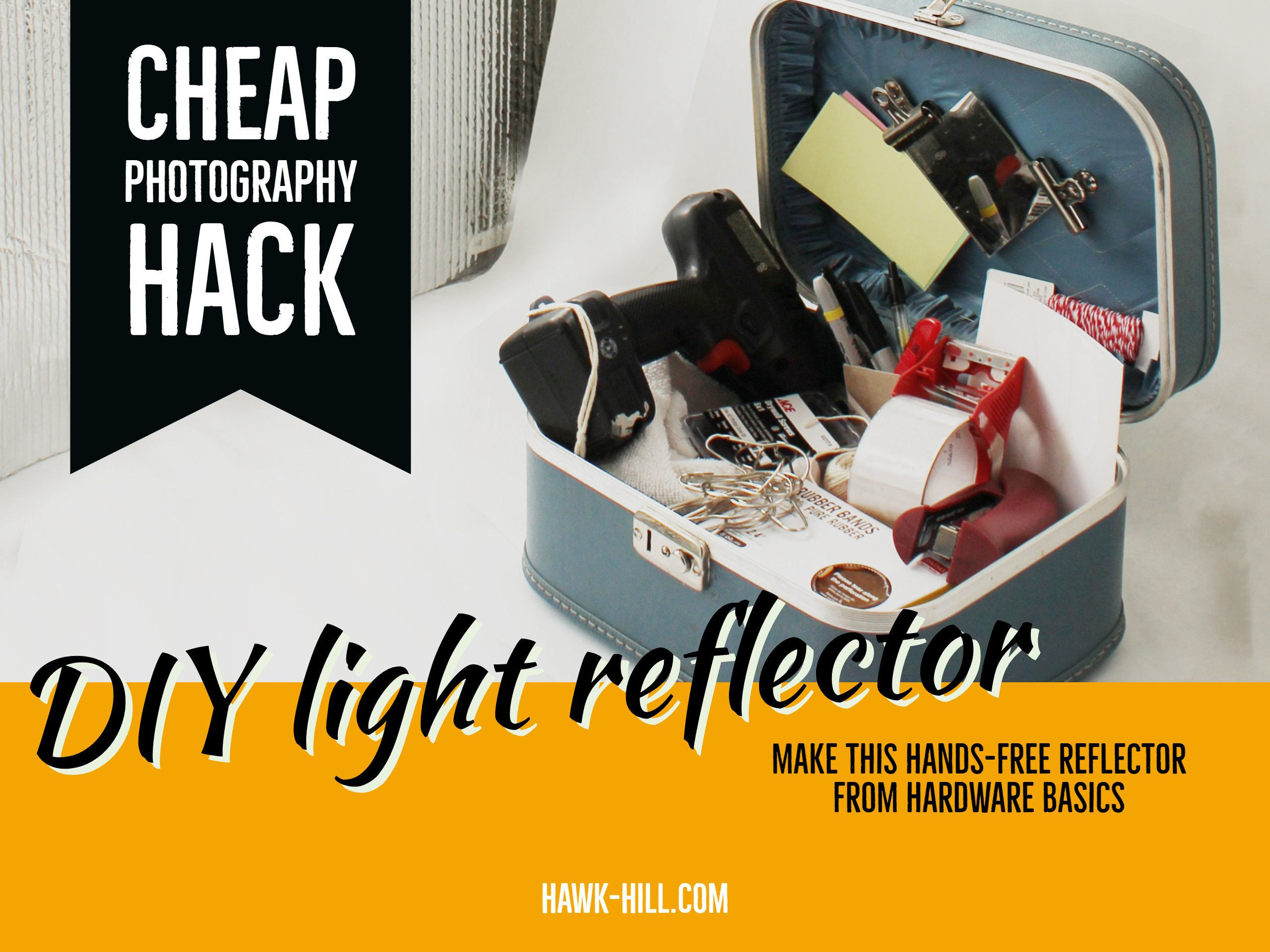 how to DIY a hands-free light reflector for perfect photography