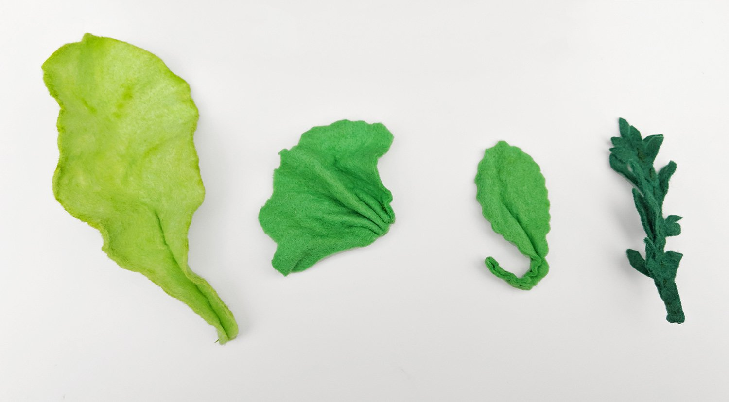 Shape leaves as appropriate to their leaf type – use Google to look at the real thing