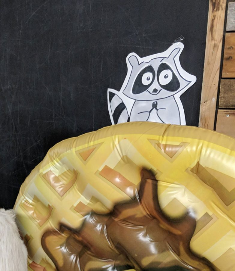 My Parks and Recreation themed birthday party was graced with this 5ft inflatable waffle