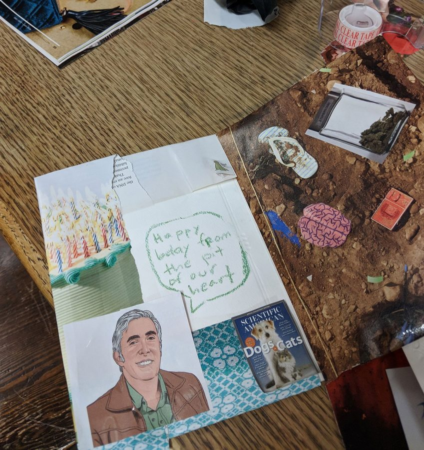 A Leslie Knope themed party had games, and these collage were the result