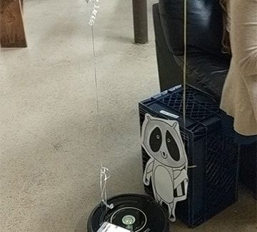 DJ roomba + a Raccoon jamming at my My Parks and Recreation Themed Birthday Party