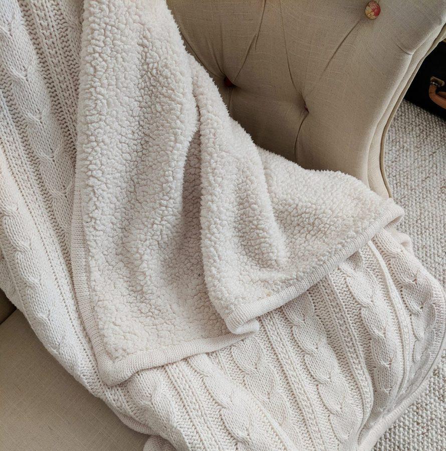 Shearling fleece fur clumped into tangled lumps- yuck