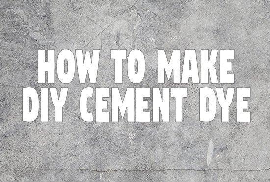 DIY Cement Dye