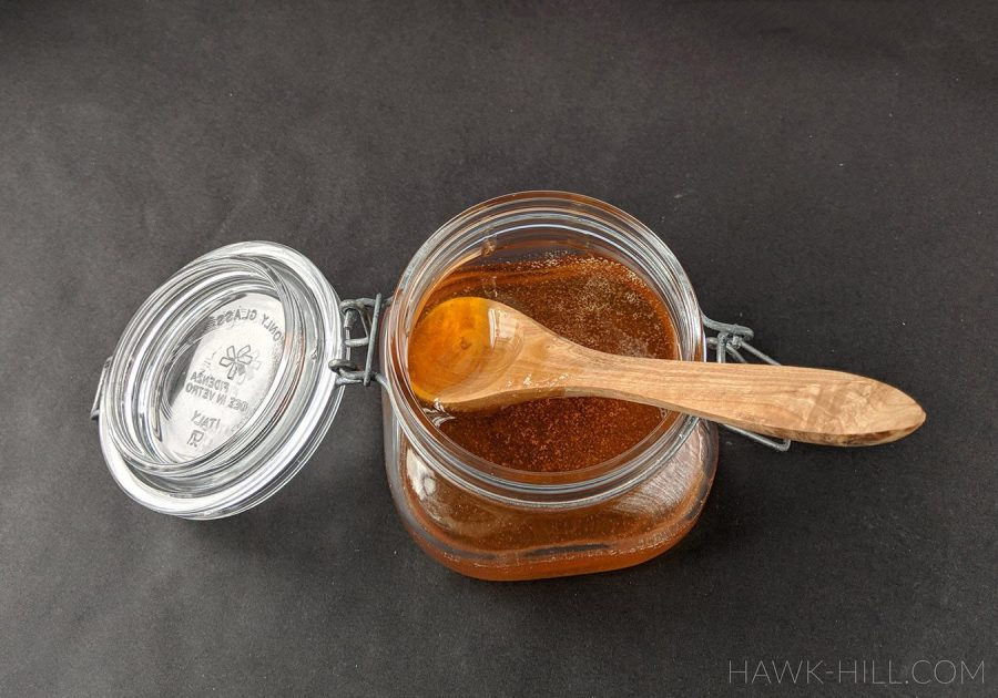This reprocessed honey will last for years without re-crystallizing