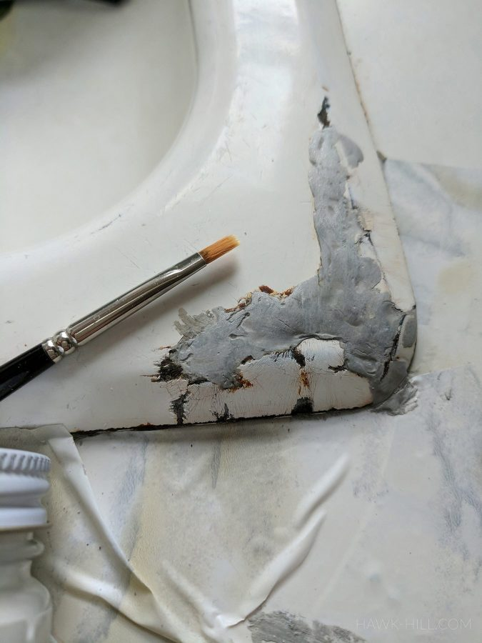 DIY rusty sink repair and patch