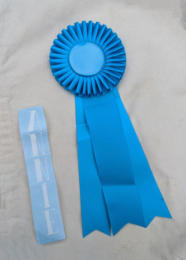 personalizing an award ribbon step by step