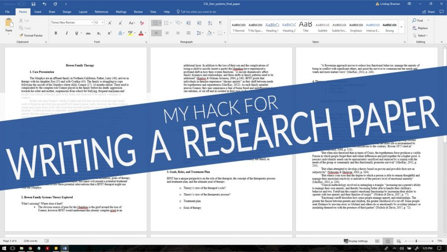 S study hacks for writing academic research paper in less time