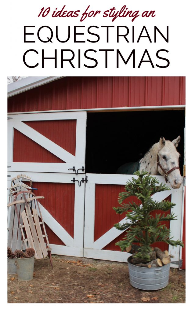 decorating the door to a chicken coop with a tiny Christmas wreath