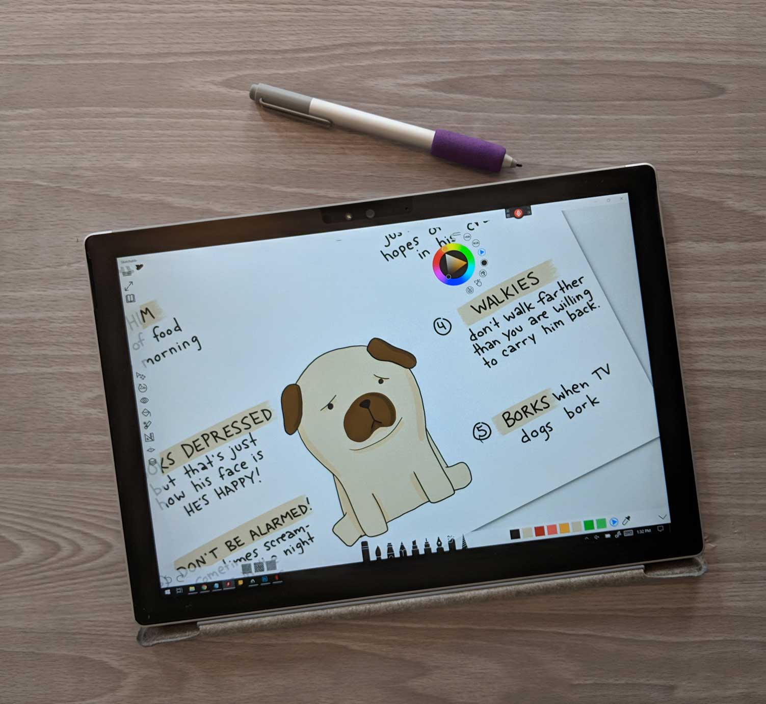 Packs for drawing better on a tablet, plus comparison of illustrating on the Surface pro vs ipad