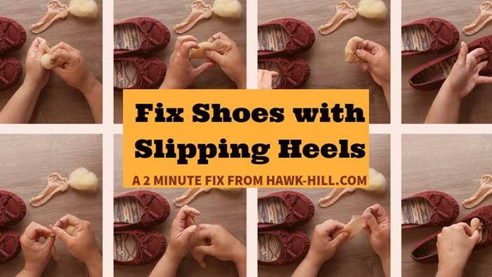 Easy trick to fix shoes that slip off your heel