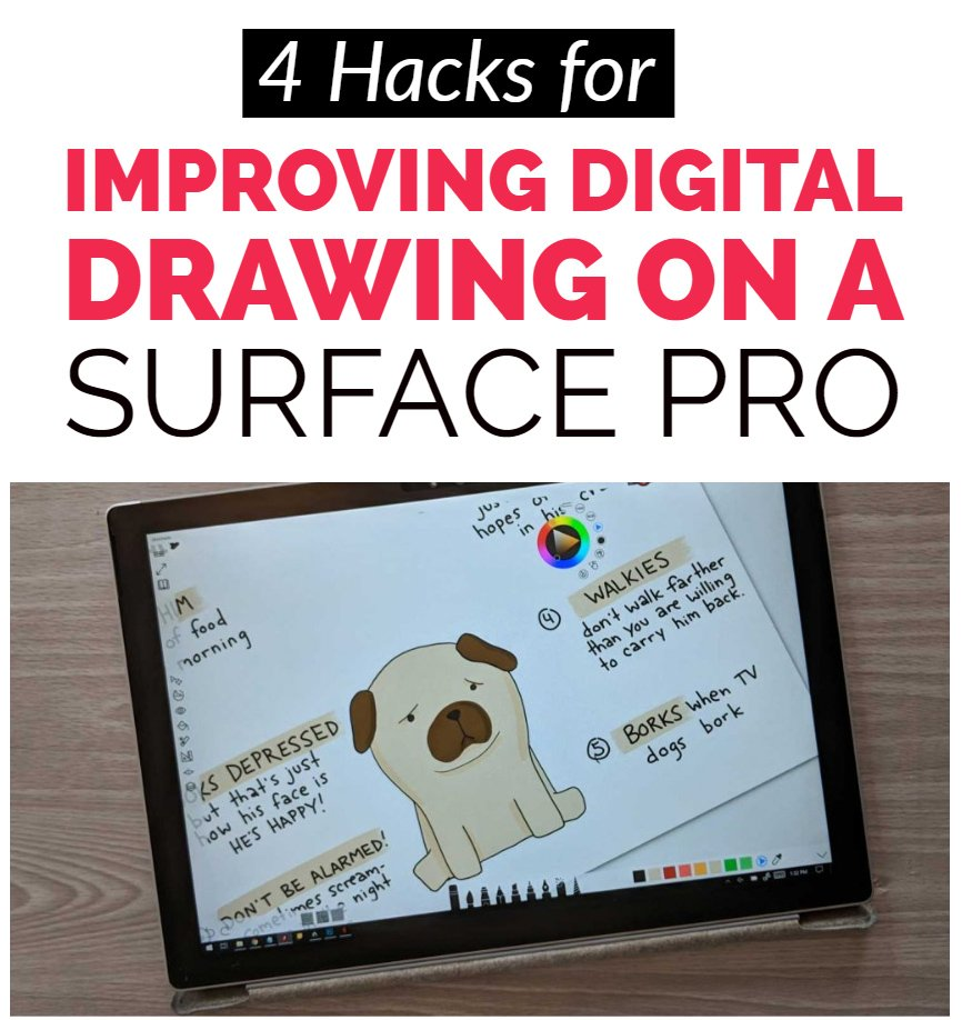 tips for drawing digitally with a Surface Pro