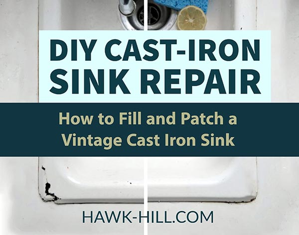 How to patch and fill cracks or rusted sections of cast iron tubs and sinks
