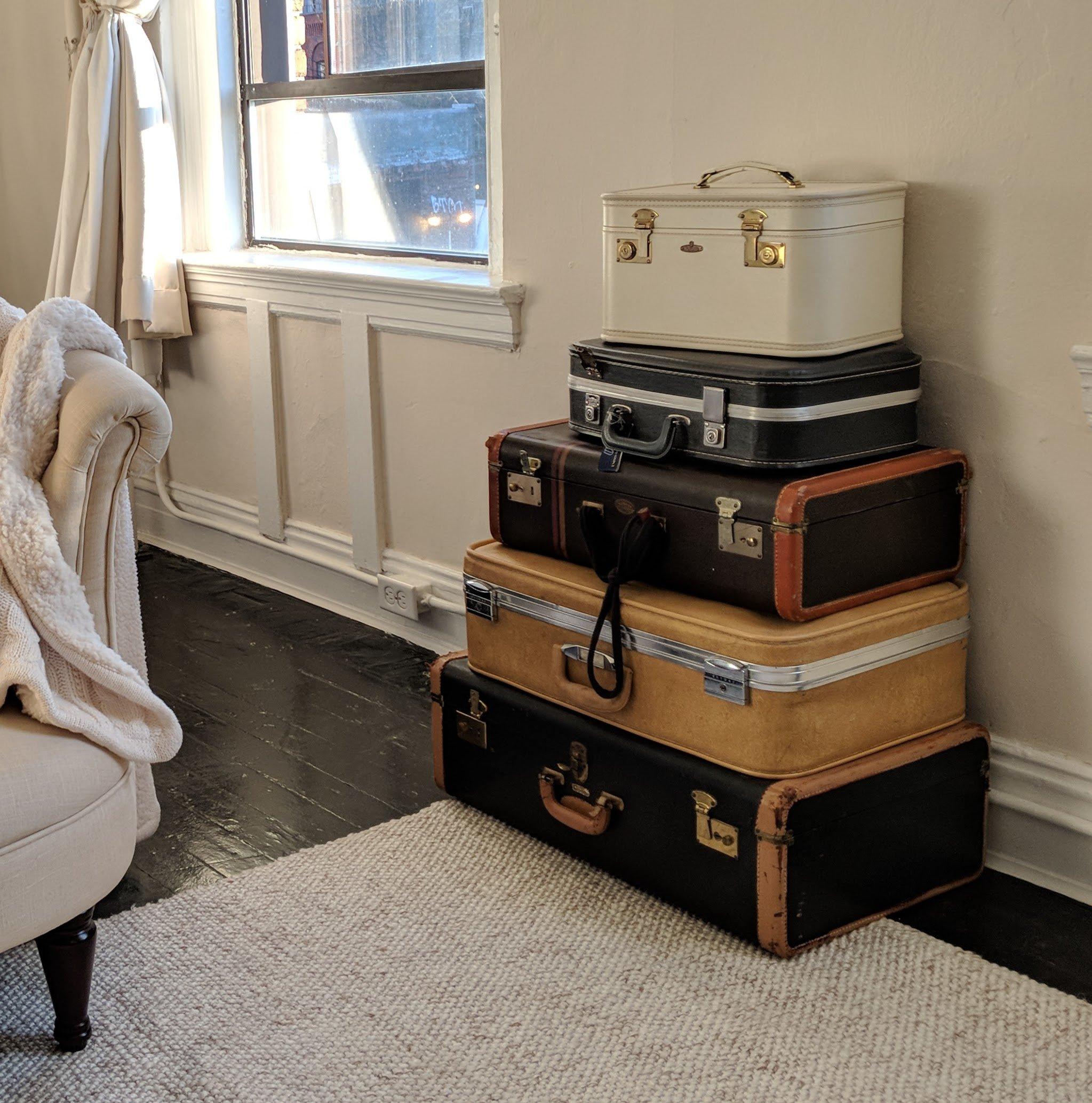 suitcase storage for art supplies
