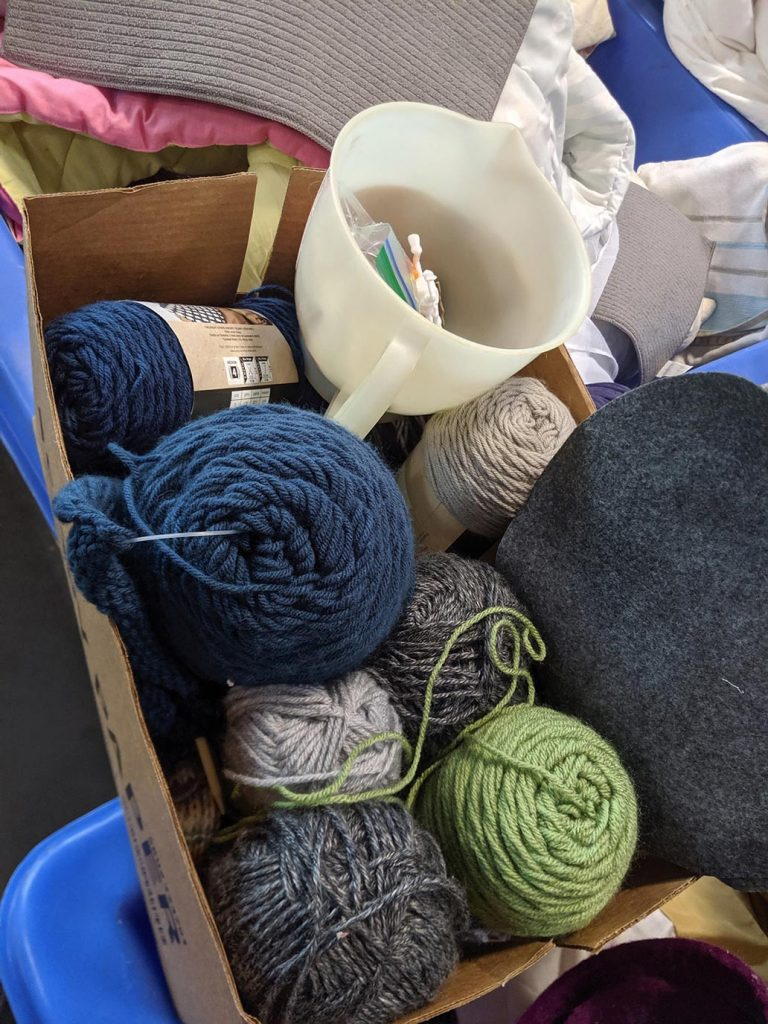 it's easy to find craft supplies at the goodwill outlet for about $.59 a pound!