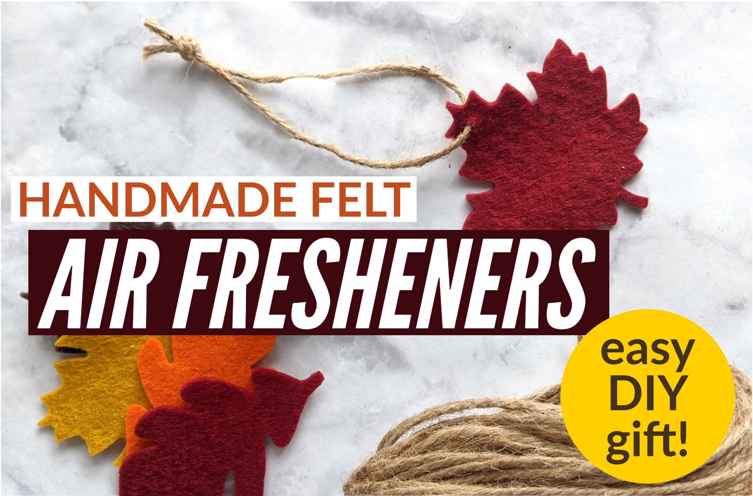 homemade felt diffusers make great gifts