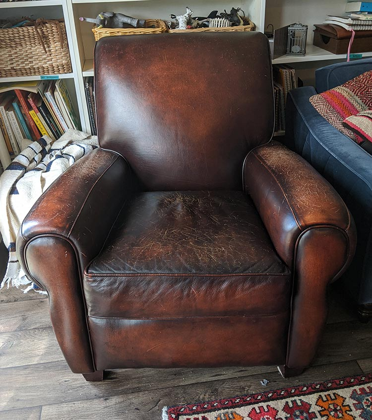 Scratches On A Leather Chair Or Sofa, How To Dye Leather Furniture