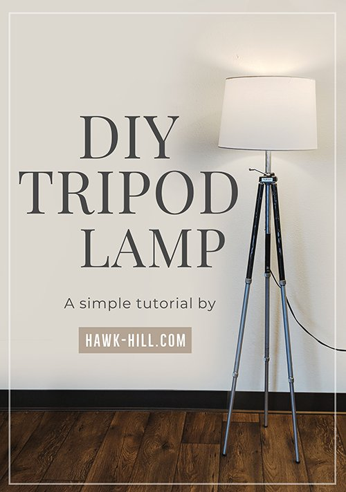 Tutorial to convert a tripod into a industrial-chic floor lamp