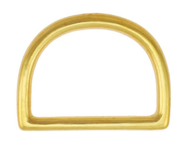 solid brass cast D ring