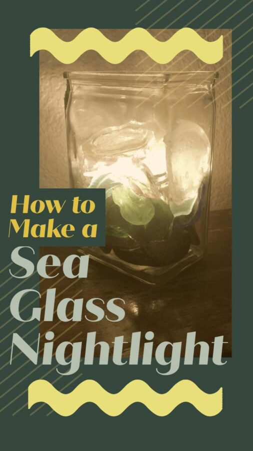 how to make a bedside light using sea glass