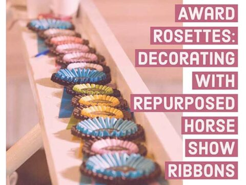 How to reuse and decorate with horse show ribbons