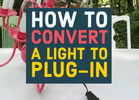 step by step beginner-friendly instructions to convert any light fixture to a plug in lamp or swag