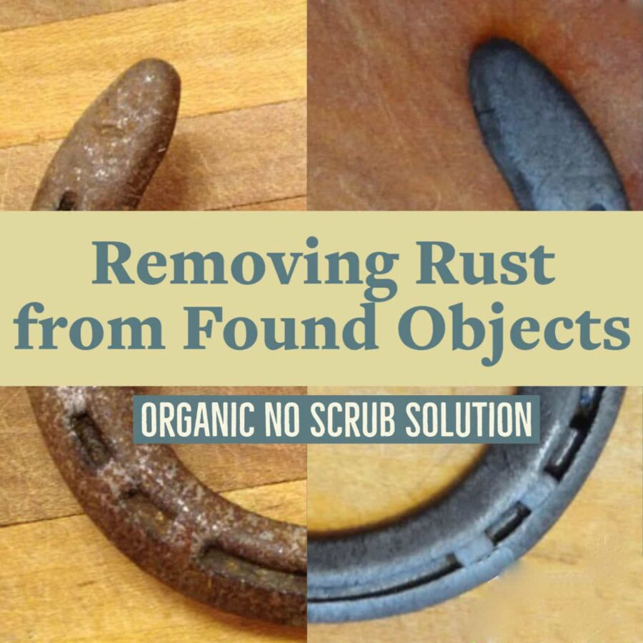 One simple step to dissolve rust from tools and found objects