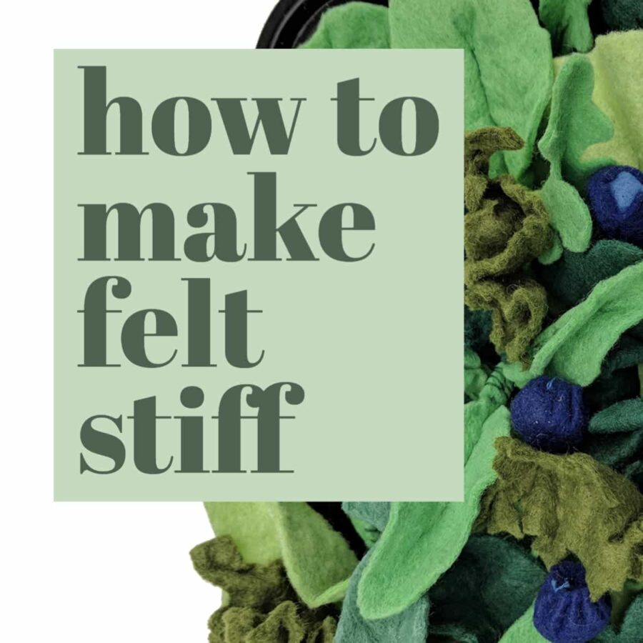 A DIY recipe for fabric stiffener that works great to create dimensional felt for crafts
