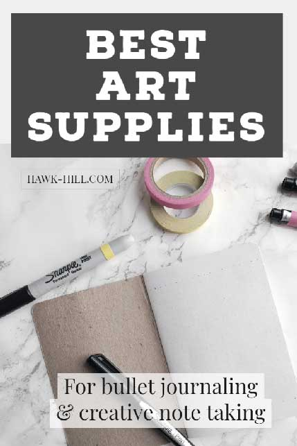 Best supplies for bullet journal and creative class note taking