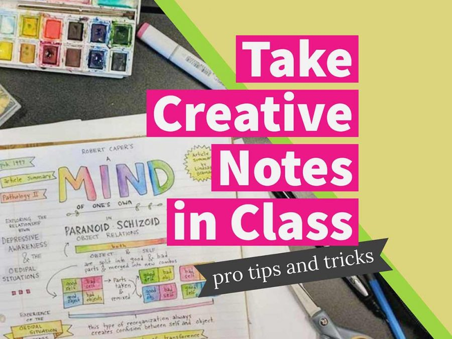 How to take creative notes in class: Pro tips and tricks for pretty doodle notes