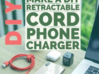 How to make a retractable cord to hide your phone charger cable