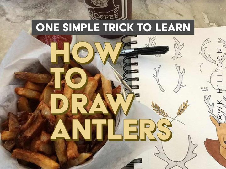 When this quick hack for drawing perfect antlers in your letter journal, notes, or sketchbook