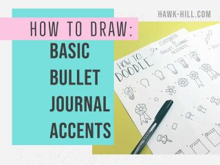How to draw basic bullet journal accents step by step