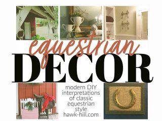 Modern ideas for DIY interpretations of classic equestrian interior design style
