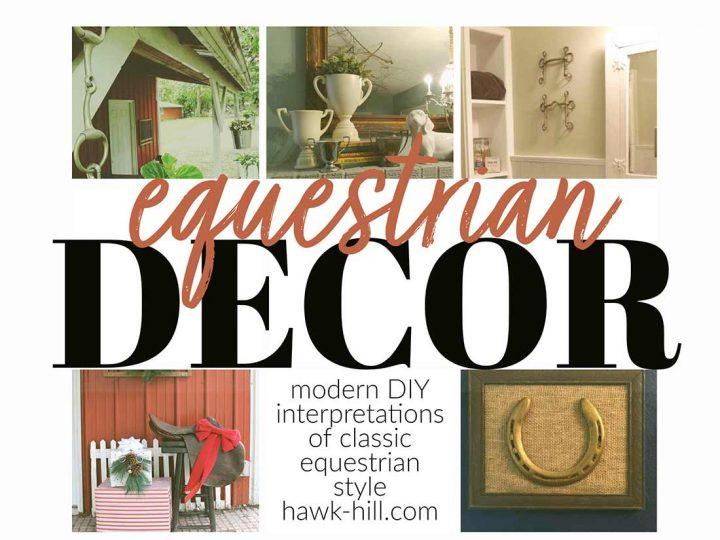 Modern ideas for DIY interpretations of classic equestrian interior design style