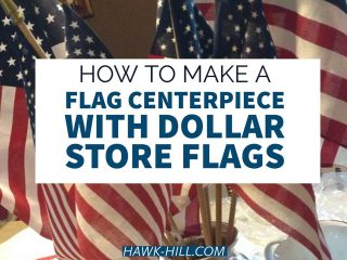 How to make a flax centerpiece for the Fourth of July