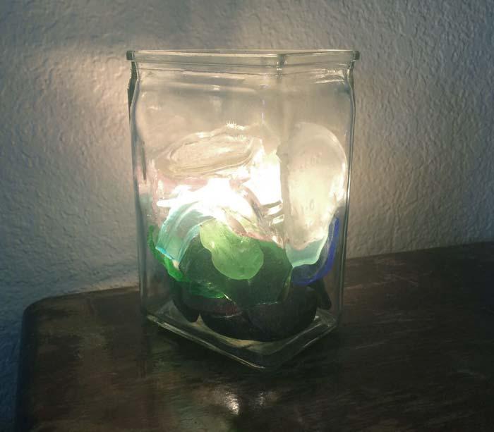 Sea Glass Lamp