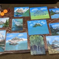 How to host a bob ross themed paint party