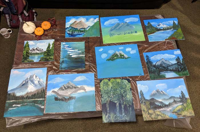 How To Host A Bob Ross Inspired Paint Along Theme Party Hawk Hill