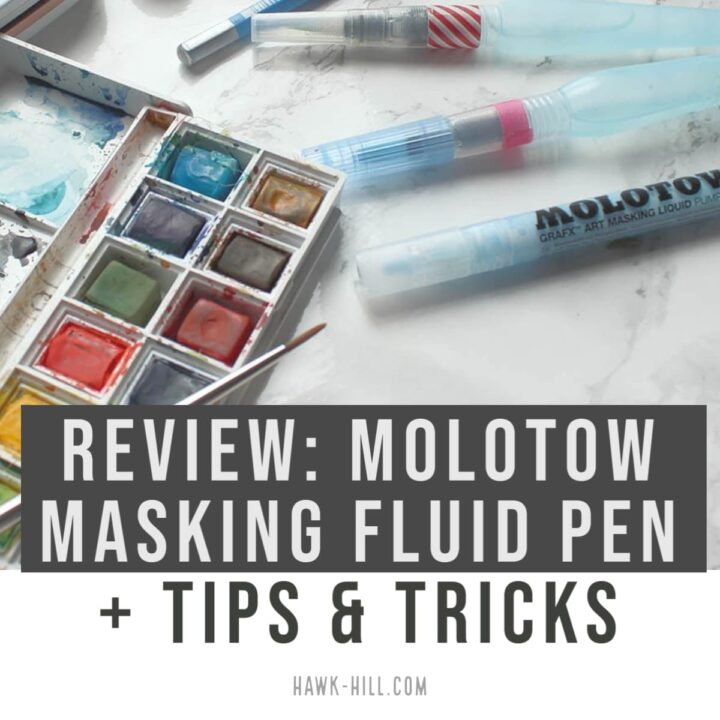 Reviewing the molotow masking fluid pen art supply