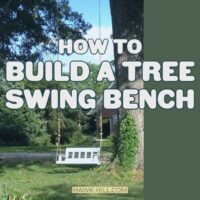 How to hang a bench style swing from a tree including free plans to build your own