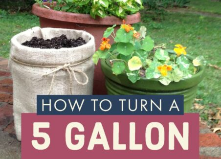 How to turn a 5 gallon bucket into a cute burlap planter