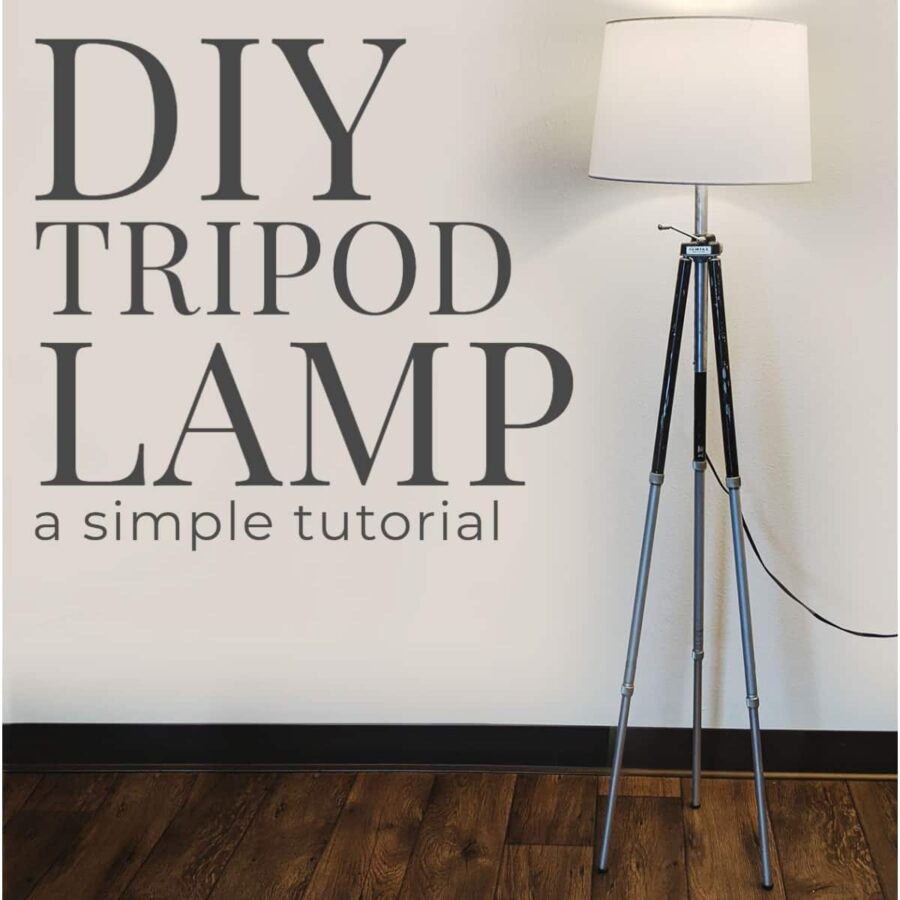 Tutorial to convert a tripod into a sturdy, industrial-chic floor lamp