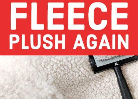 How to clean and fluff clumped fleece blankets and rugs