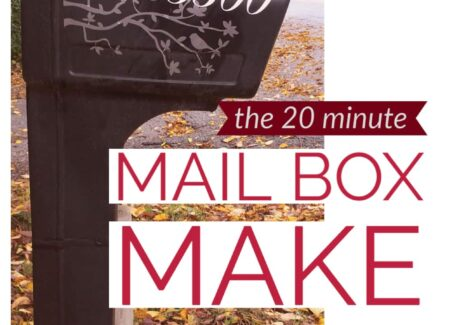 A quick tutorial on turning standard mailbox numbers into eye catching curb appeal using vinyl number stickers