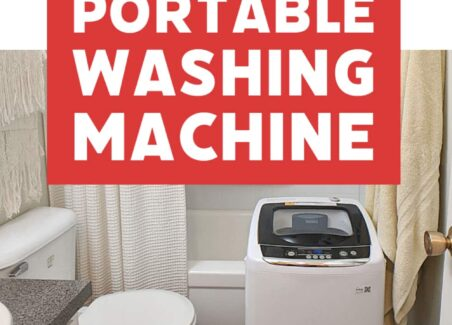 Tips for buying, installing and using a portable washing machine in an apartment or tiny home + bonus tips for efficient clothes drying without a dryer